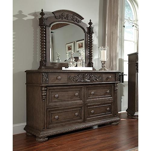 Klaussner International Versailles 6 Drawer Dresser And Mirror Set Pilgrim Furniture City