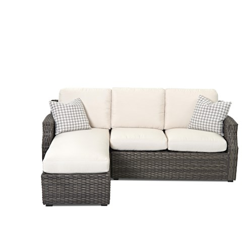 Klaussner Outdoor Cascade Sectional Sofa With