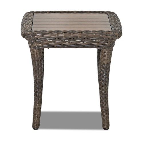 Klaussner outdoor sycamore square outdoor end table for Sycamore square