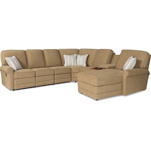 La Z Boy Addison Six Piece Power Reclining Sectional Sofa