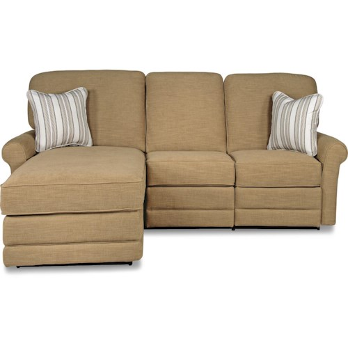 La Z Boy Addison Two Piece Reclining Sectional Sofa With