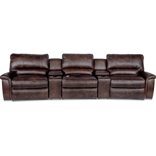 la z boy aspen five piece reclining home theather group superstore