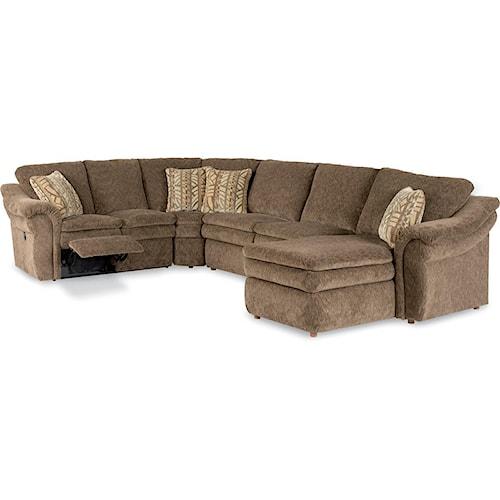 La Z Boy Devon 4 Piece Reclining Sectional Sofa With Las