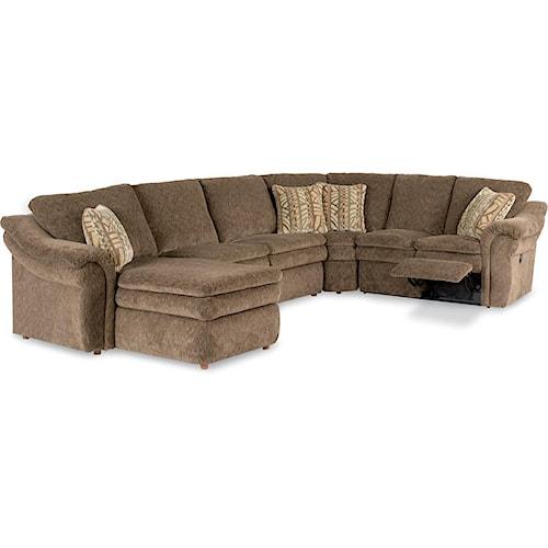 La z boy devon 4 piece reclining sectional sofa with ras for 750 sofa chaise