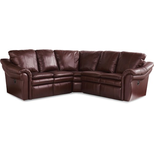 La z boy max 3 pc reclining corner sectional sofa for 3 pc sectional sofa with recliners