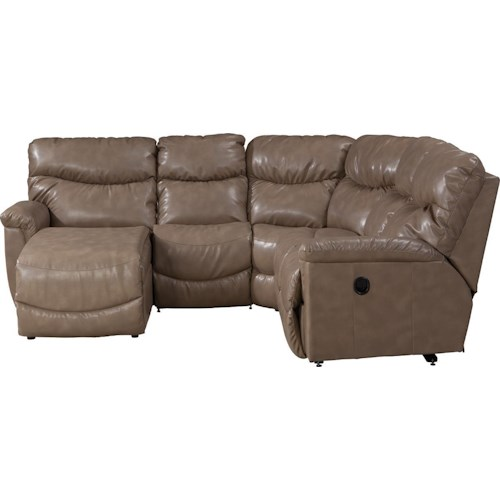 La Z Boy James Four Piece Power Reclining Sectional Sofa