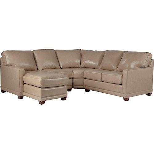 La Z Boy Kennedy Transitional Sectional Sofa With RAS