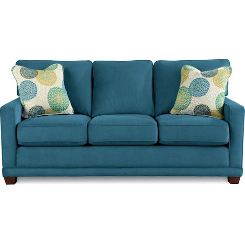 La Z Boy Kennedy Transitional Sofa With Wood Legs And Welt