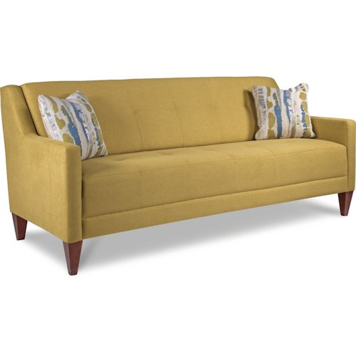 La Z Boy Verve Mid Century Modern Sofa With Tufting
