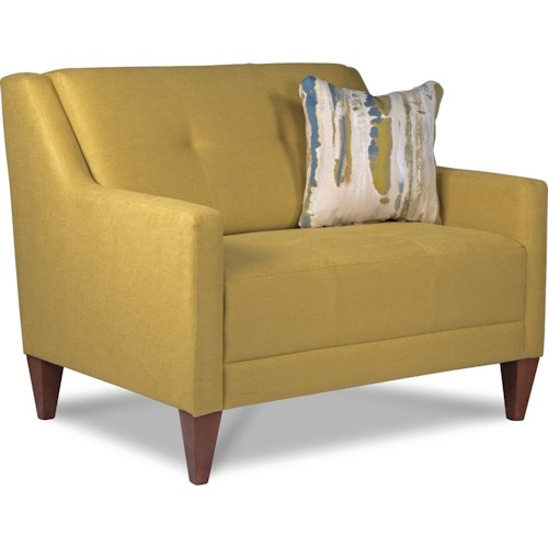 La Z Boy Verve Mid Century Modern Chair And A Half With Tufting Great Ameri