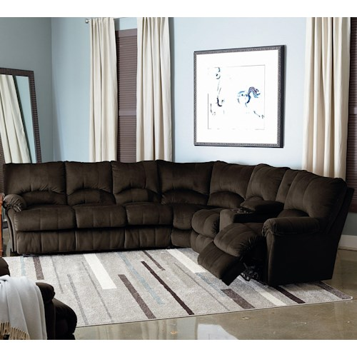 Lane alpine sectional hudson39s furniture reclining for Lane leather sectional sleeper sofa