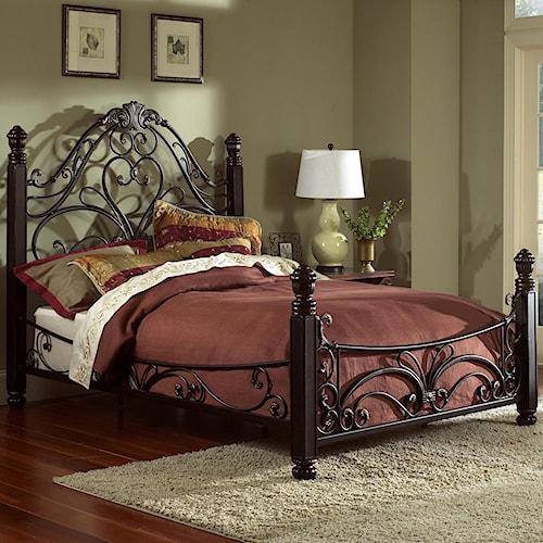 Largo metal beds queen diana bed great american home for Diana bedroom set