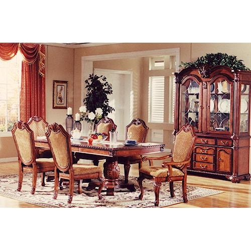 Lee furniture tbl005 7 piece dining set royal furniture for Dining sets nashville tn