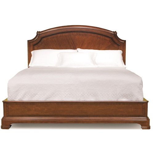 Legacy classic evolution king size scroll top platform bed - Legacy evolution bedroom furniture ...