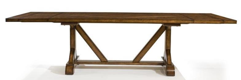 Larkspur Rectangular Trestle Table with Flatware Storage  : larkspur931 622 bjpgscalebothampwidth500ampheight500ampfsharpen25ampdown from www.rotmans.com size 500 x 500 jpeg 15kB