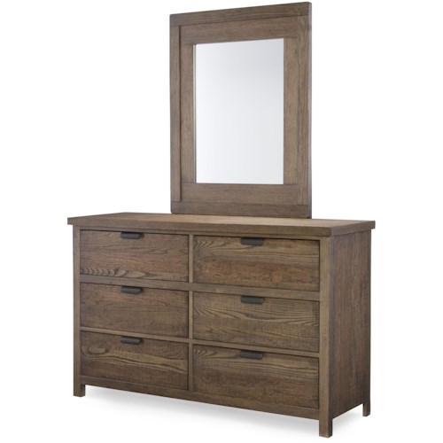 Legacy Classic Kids Fulton County 6 Drawer Dresser With Mirror Dunk Bright Furniture