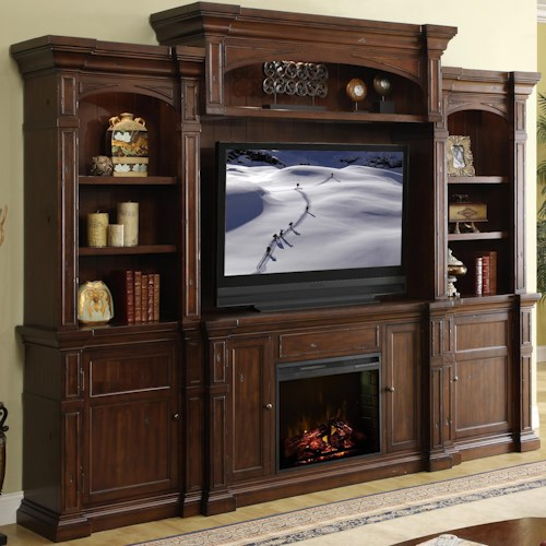 Legends Furniture Berkshire Fireplace Console Wall System Wayside Furniture Wall Unit