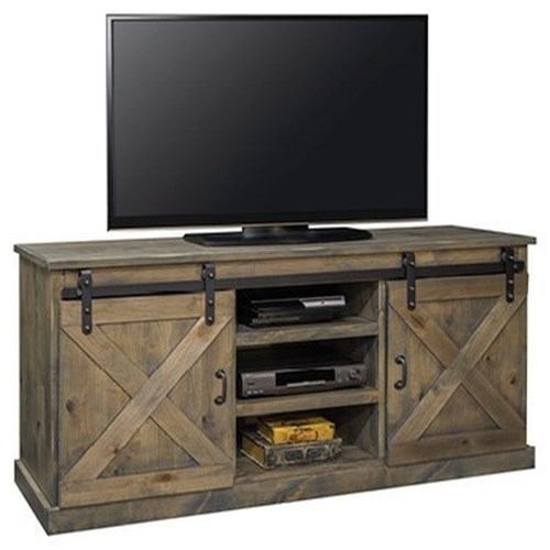 Legends Furniture Farmhouse Collection 1090998081 Farmhouse 66 Tv Console With Industrial