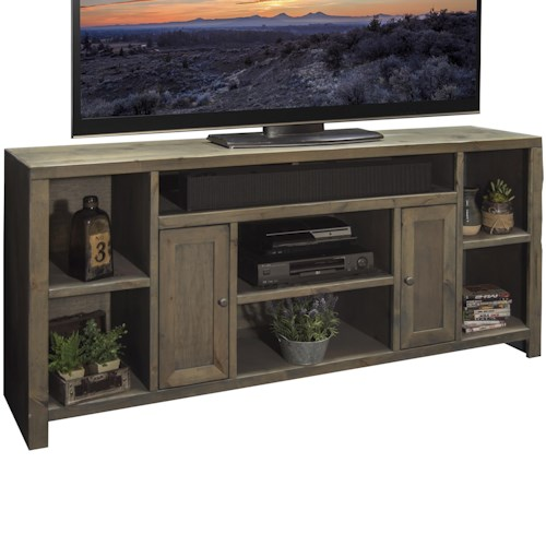 Legends furniture joshua creek 65 tv console with 2 doors for Furniture 65