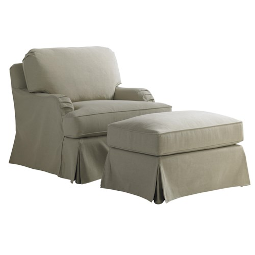 Leather Sofa Repairs In Coventry: Lexington Coventry Hills Stowe Slipcover Chair And Ottoman