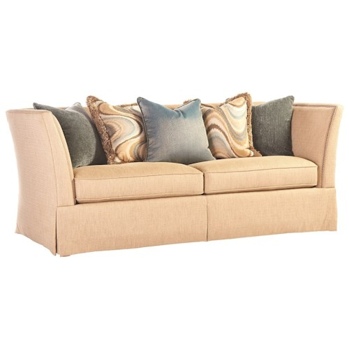 Lexington lexington upholstery hadley tuxedo sofa with for Furniture upholstery yonkers ny