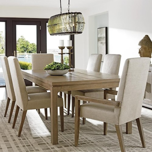 Lexington Shadow Play Seven Piece Dining Set With Concorde Table And Dove Gra