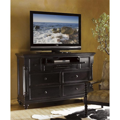 Tommy Bahama Home Kingstown Stony Point Triple Dresser With Pilasters Belfort Furniture Dressers