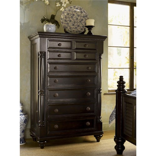 Tommy Bahama Home Kingstown Stony Point Chest With Jewelry Tray Belfort Furniture Drawer Chests
