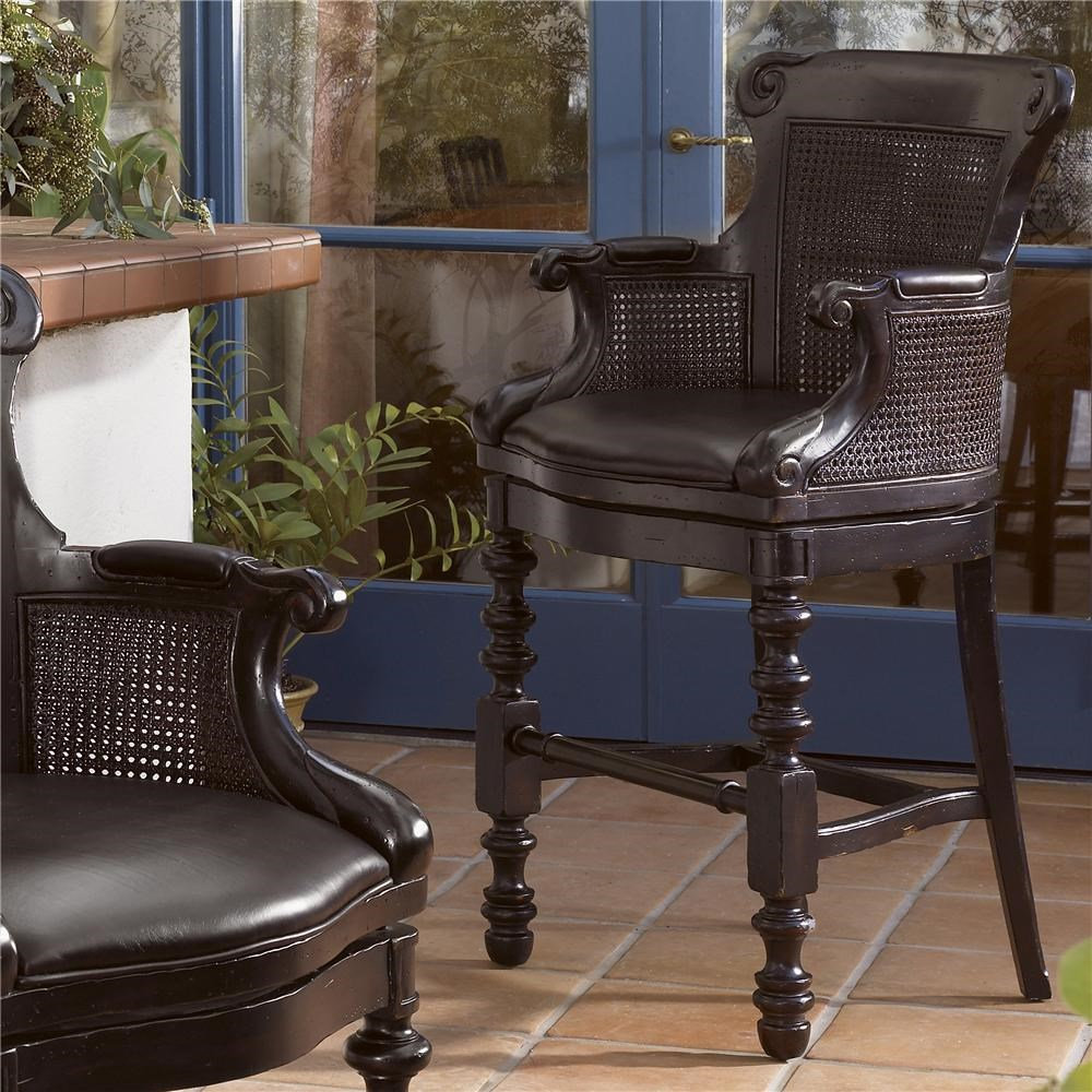 Tommy Bahama Home Kingstown Dunkirk Swivel Bar Stool With