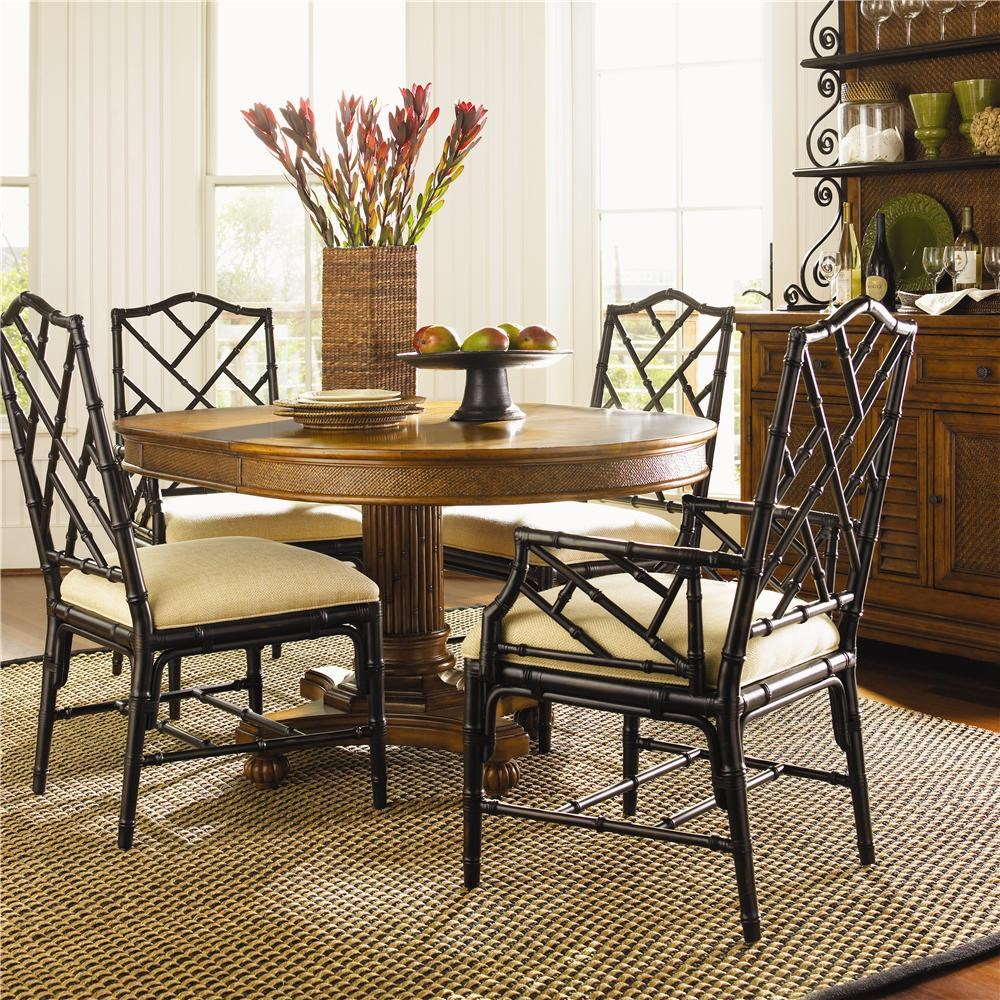 ^ ommy Bahama Home Island state 5 Piece Dining ayman able ...