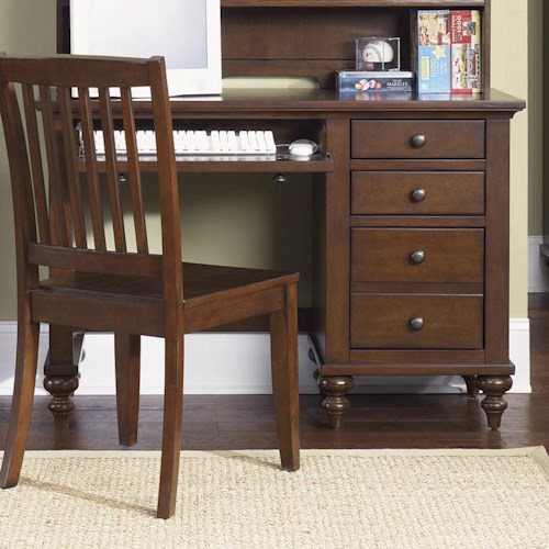 liberty furniture abbott ridge youth bedroom student desk base with 3 drawers wayside. Black Bedroom Furniture Sets. Home Design Ideas