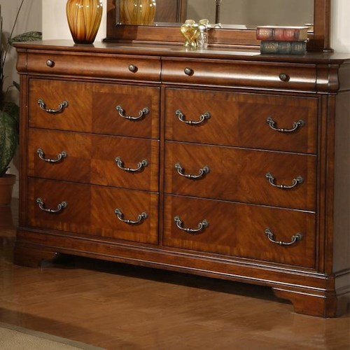 Liberty furniture alexandria traditional dresser with 8 for Zfurniture alexandria