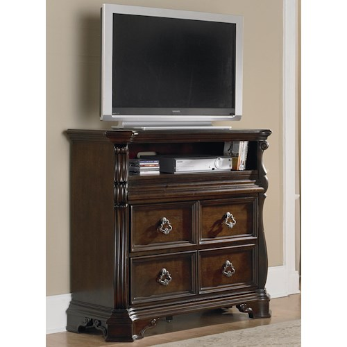 Liberty Furniture Arbor Place Traditional Media Chest Bullard Furniture Chest Media Chest