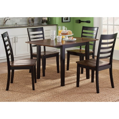 Liberty Furniture Cafe Dining 56 Cd 5dls 5 Piece Drop Leaf