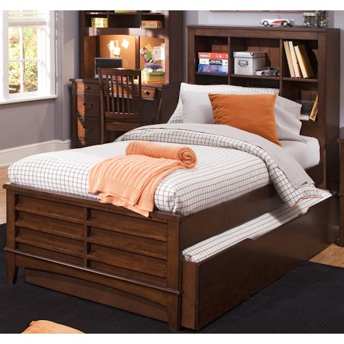 Murphy Bed Nfm: Liberty Furniture Chelsea Square Youth Twin Bookcase Bed