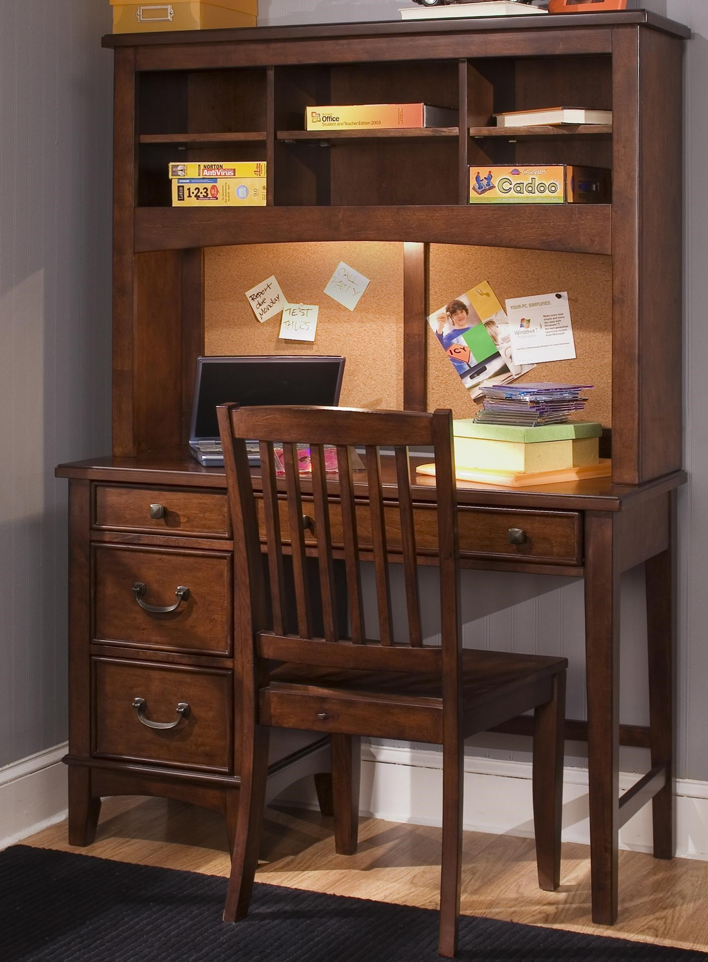 Chelsea Square Youth Single Pedestal Student Desk With