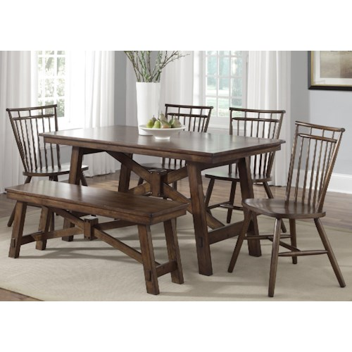 Liberty Furniture Creations Ii 6 Piece Table Set With