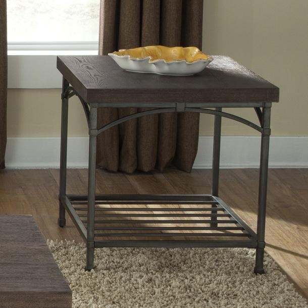 Liberty Furniture Franklin End Table with Metal Base