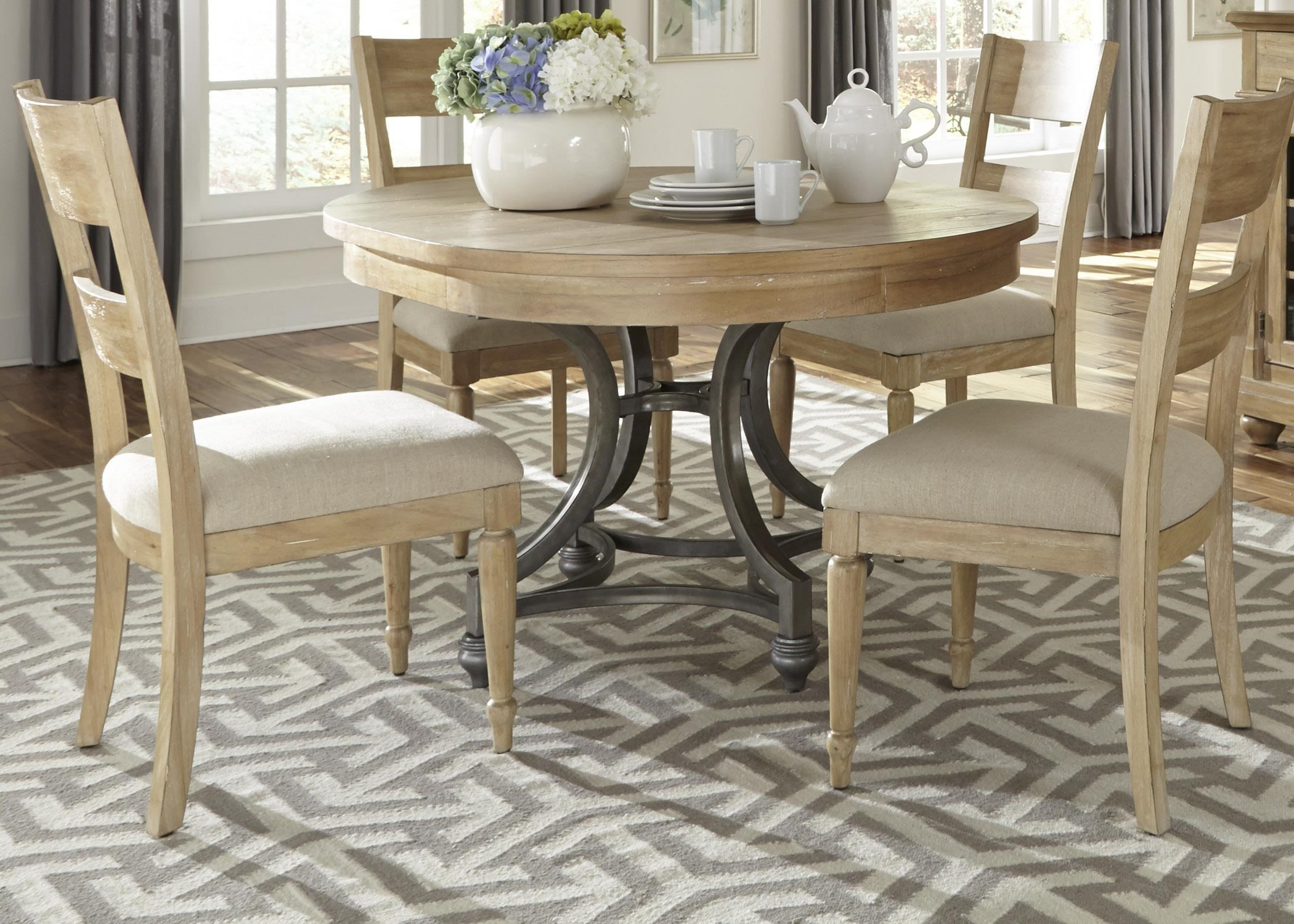 Liberty Furniture Harbor View 531 DR 5ROS Round Table and