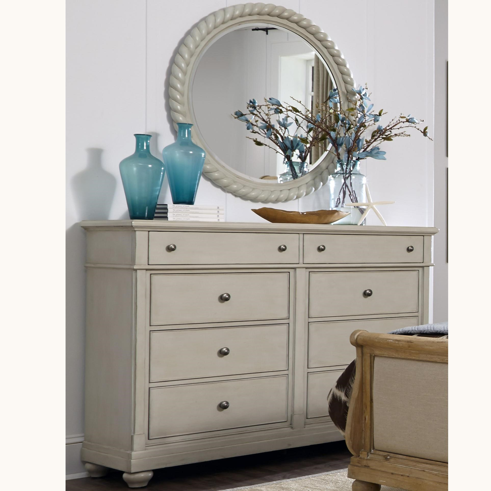 Liberty Furniture Harbor View Dresser with 8 Drawers and