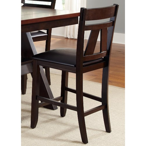 Liberty furniture lawson splat back counter chair with for Dining room tables jacksonville nc