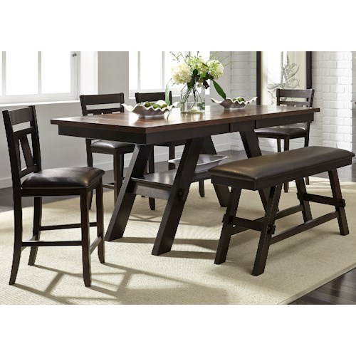 Liberty Furniture Lawson 6 Piece Gathering Table Set Prime Brothers Furniture Table Chair