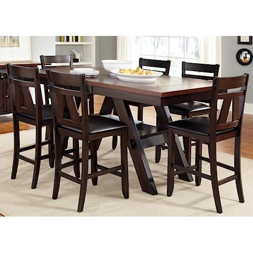 Ashleys Furniture Springfield Mo: Liberty Furniture Lawson 7 Piece Trestle Gathering Table