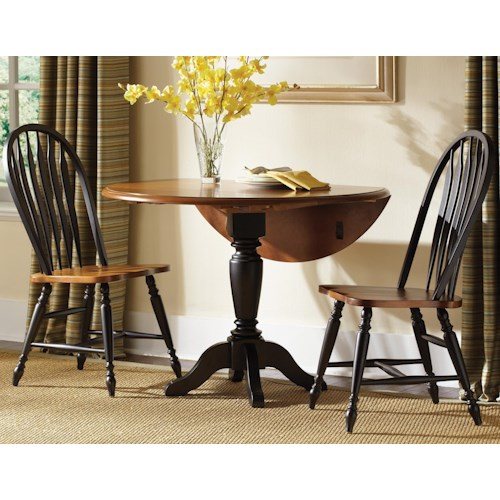 Liberty furniture low country three piece dining set zak for 3 piece dining room set