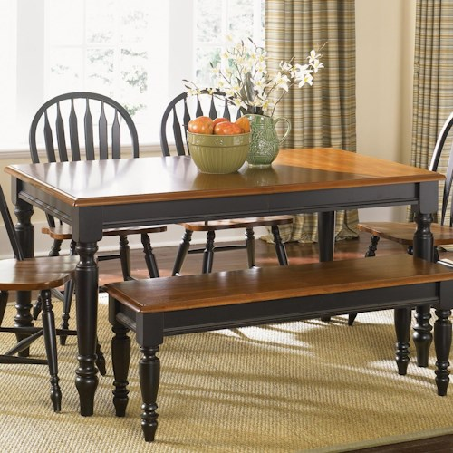 Liberty Furniture Low Country Sand Dining Bench At Hayneedle: Low Country Rectangular Dining Table With Turned Legs