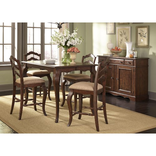 ... Furniture Woodland Creek Casual Dining Room Group at Adcock Furniture