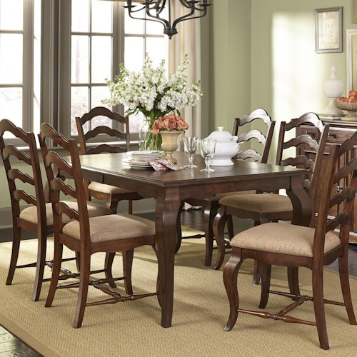 furniture dining 7 or more piece set liberty furniture woodland creek ...