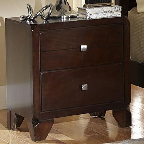 Lifestyle 2180a Night Stand W 2 Drawers Ivan Smith Furniture Night Stand