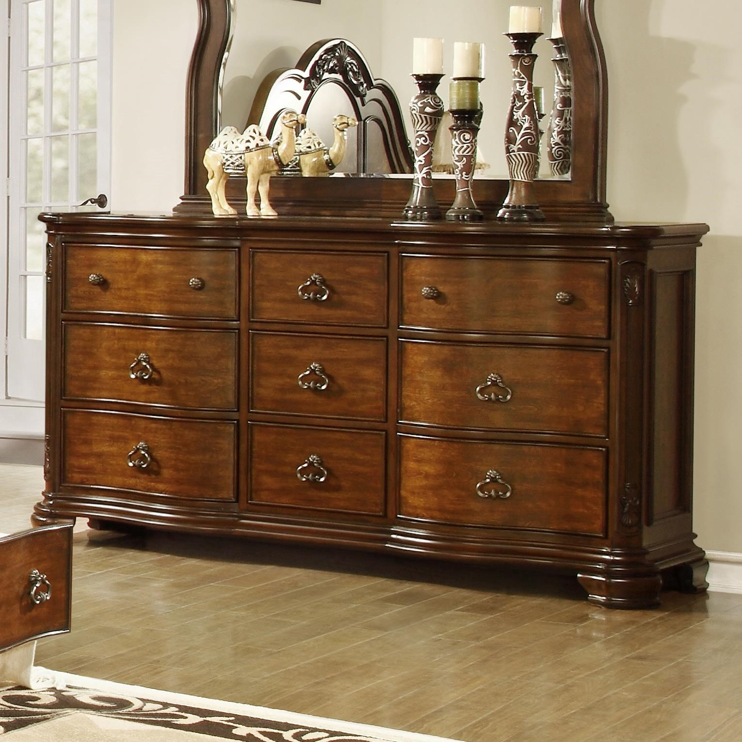 Lifestyle Tobacco Dresser with 9 Drawers