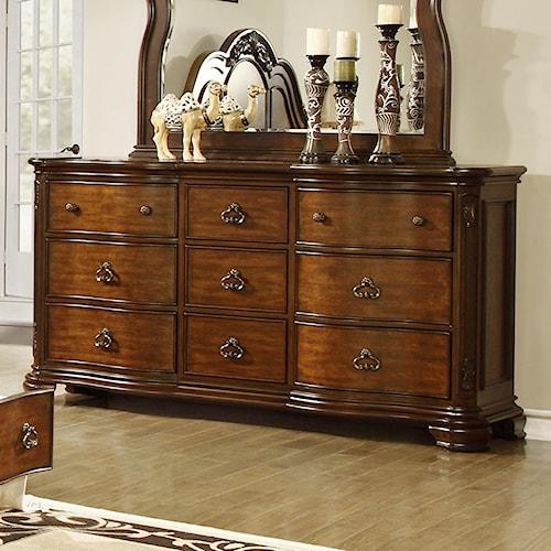 Lifestyle Tobacco Dresser With 9 Drawers Royal Furniture Dresser Memphis Jackson Nashville